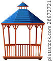 Pavilion with blue roof 26972721