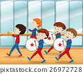 Kids playing music in school band 26972728