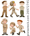 Soldiers in different actions 26972745