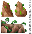 Different shapes of rock and trees 26972931
