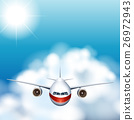 Airplane flying in the sky 26972943