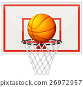 Basketball with basketball board and net 26972957