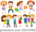 Children and people doing different actions 26972960
