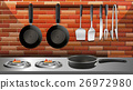 Kitchen utencils in kitchen 26972980