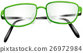 Eyeglasses with green frame 26972984