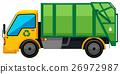 Rubbish truck on white background 26972987