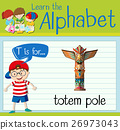 Flashcard letter T is for totem pole 26973043