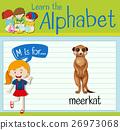 Flashcard letter M is for meerkat 26973068