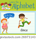 Flashcard letter D is for dance 26973143