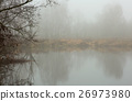 Foggy autumnal morning at the pond 26973980