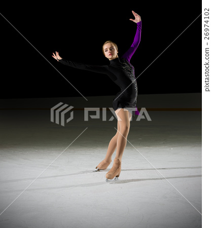 Young girl figure skater 26974102