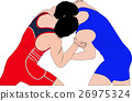 two men wrestlers in Greco-Roman wrestling 26975324