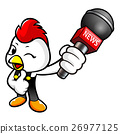 Chicken Character point a microphone. 26977125