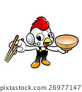 Chicken Character is using chopsticks skillfully. 26977147