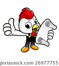 Chicken Character is holding an order sheet. 26977755