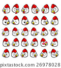 Various styles of a Chicken Character Face icon 26978028