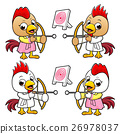 Chicken Character is archery played. 26978037
