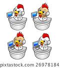 Chicken Character  desk of Public Relations. 26978184