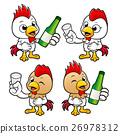 Chicken holding a distilled spirits toast. 26978312