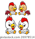 The front sit down Chicken Character. 26978514