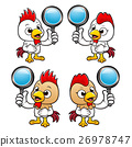Chicken Character look through a magnifier. 26978747
