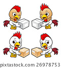 Chicken Character is holding a courier box  26978753
