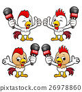 Chicken Character the hand is holding a Mic. 26978860