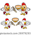 Chicken Character is holding a chopsticks. 26979293