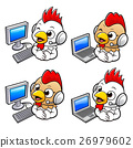 Chicken Character desk in Personal computer. 26979602