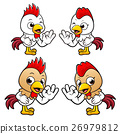 Chicken Character the OK gesture. 26979812