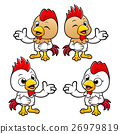Chicken Character showed a person the way. 26979819