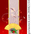 folding fan, japanese fan, japanese pattern 26982150