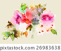 Flowers watercolor illustration 26983638