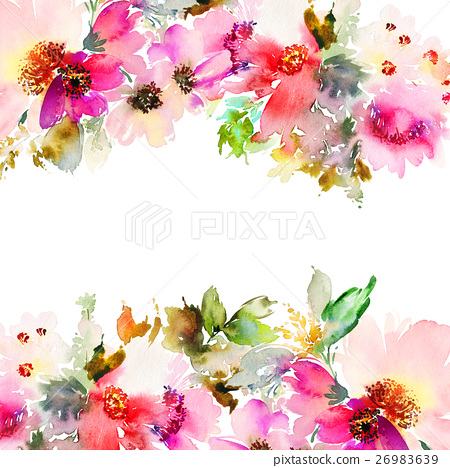 Greeting card with flowers 26983639