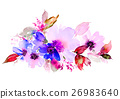 Flowers watercolor illustration 26983640