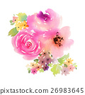 Greeting card with flowers 26983645