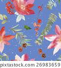 Watercolor seamless Christmas pattern 26983659