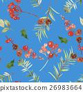 Watercolor seamless Christmas pattern 26983664