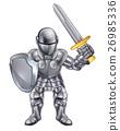 knight sword shield 26985336