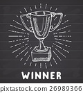 Sport trophy sketch. Hand drawn winners prize 26989366