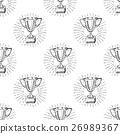 Sport trophy seamless pattern sketch doodle. 26989367