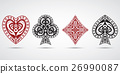 spades, hearts, diamonds, clubs poker card symbols 26990087
