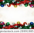 Christmas background with decorations. 26991985