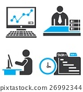 office icons, business management set 26992344
