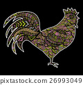 Hand drawn sketch in the shape of a rooster 26993049