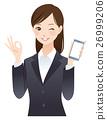 女性 好的 智能手机 26999206