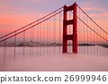 First Tower of the Golden Gate Bridge in Fog 26999946