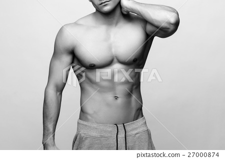 Handsome young man's torso 27000874