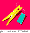 Gold or Yellow Peg with Empty Blue Label 27002911
