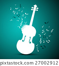 Abstract Music Vector Background. Violin and Notes 27002912